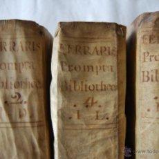 Enciclopedias antiguas: LUCIS FERRARIS BIBLIOTHECA. 9ª EDICION. TOMO II C-D, TOMO IV I-L TOMO V M-O 1766. Lote 43735251