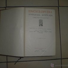 Enciclopedias antiguas: ENCICLOPEDIA UNIVERSAL ILUSTRADA EUROPEO AMERICANA . TOMO LV . ESPASA CALPE 1927. Lote 93586030