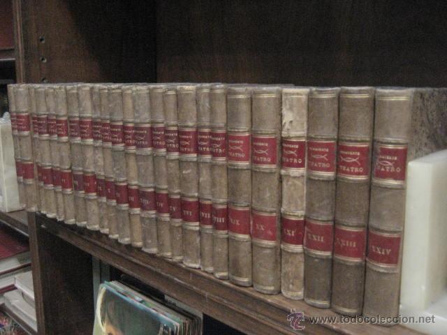 Enciclopedias antiguas: 24 tomos en piel teatro de jacinto Benavente, Sucesores de Hernando , Fortanet imprenta, 1905 -1918 - Foto 2 - 46921789