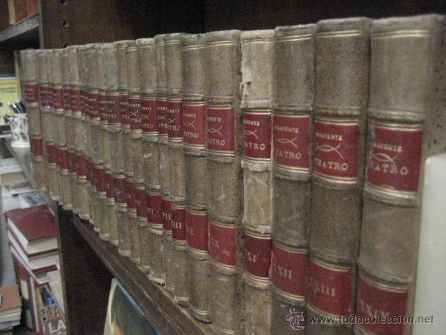 Enciclopedias antiguas: 24 tomos en piel teatro de jacinto Benavente, Sucesores de Hernando , Fortanet imprenta, 1905 -1918 - Foto 3 - 46921789