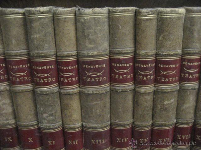 Enciclopedias antiguas: 24 tomos en piel teatro de jacinto Benavente, Sucesores de Hernando , Fortanet imprenta, 1905 -1918 - Foto 6 - 46921789