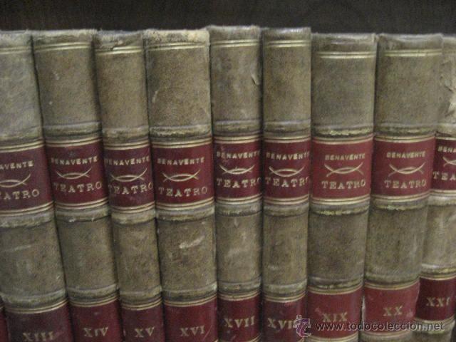 Enciclopedias antiguas: 24 tomos en piel teatro de jacinto Benavente, Sucesores de Hernando , Fortanet imprenta, 1905 -1918 - Foto 7 - 46921789