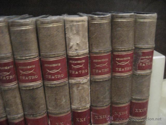 Enciclopedias antiguas: 24 tomos en piel teatro de jacinto Benavente, Sucesores de Hernando , Fortanet imprenta, 1905 -1918 - Foto 8 - 46921789