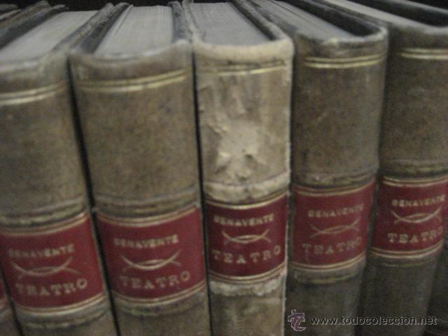 Enciclopedias antiguas: 24 tomos en piel teatro de jacinto Benavente, Sucesores de Hernando , Fortanet imprenta, 1905 -1918 - Foto 9 - 46921789