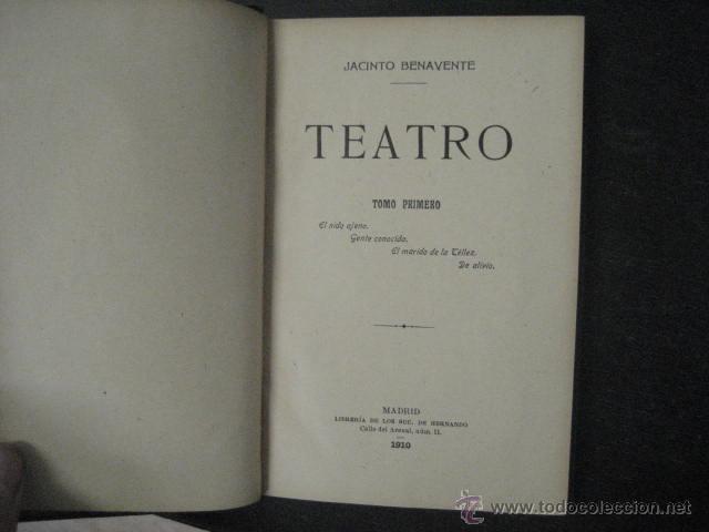 Enciclopedias antiguas: 24 tomos en piel teatro de jacinto Benavente, Sucesores de Hernando , Fortanet imprenta, 1905 -1918 - Foto 14 - 46921789