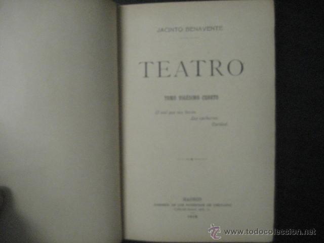 Enciclopedias antiguas: 24 tomos en piel teatro de jacinto Benavente, Sucesores de Hernando , Fortanet imprenta, 1905 -1918 - Foto 15 - 46921789