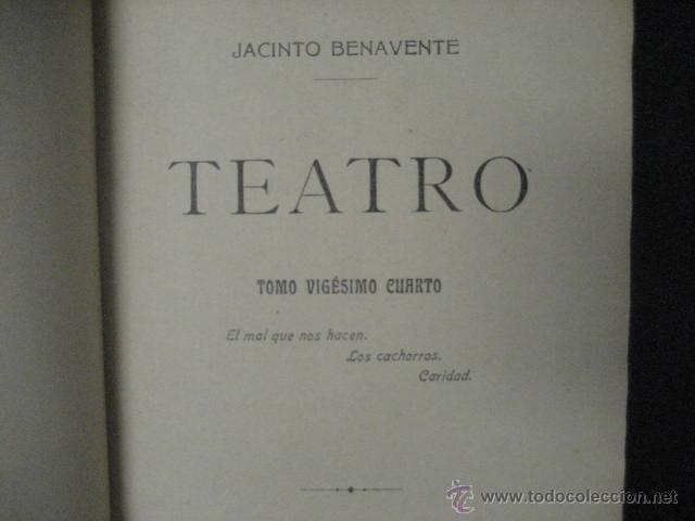 Enciclopedias antiguas: 24 tomos en piel teatro de jacinto Benavente, Sucesores de Hernando , Fortanet imprenta, 1905 -1918 - Foto 16 - 46921789