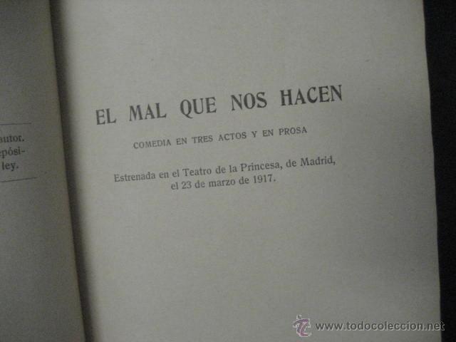 Enciclopedias antiguas: 24 tomos en piel teatro de jacinto Benavente, Sucesores de Hernando , Fortanet imprenta, 1905 -1918 - Foto 18 - 46921789