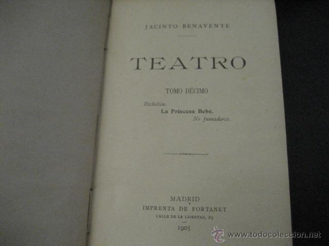 Enciclopedias antiguas: 24 tomos en piel teatro de jacinto Benavente, Sucesores de Hernando , Fortanet imprenta, 1905 -1918 - Foto 21 - 46921789