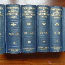 Enciclopedias antiguas: REGALO ENCICLOPEDIA QUÍMICA INDUSTRIAL THORPE COMPLETA EDITORIAL LABOR 1919. Lote 48353158
