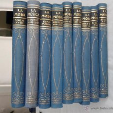 Enciclopedias antiguas: 8 TOMOS DE LA HISTORIA DE LA MODA 1928 MÁS 1 TOMO ETAPAS Y ASPECTOS DE LA MÚSICA. Lote 50048255