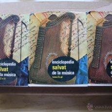 Enciclopedias antiguas: ENCICLOPEDIA SALVAT DE LA MÚSICA TOMOS 2,3Y4. Lote 53882807
