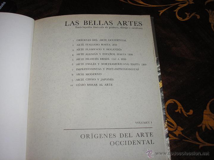 Enciclopedias antiguas: LAS BELLAS ARTES - ENCICLOPEDIA ILUSTRADA DE PINTURA, DIBUJO Y ESCULTURA - 10 TOMOS - Foto 2 - 54060790