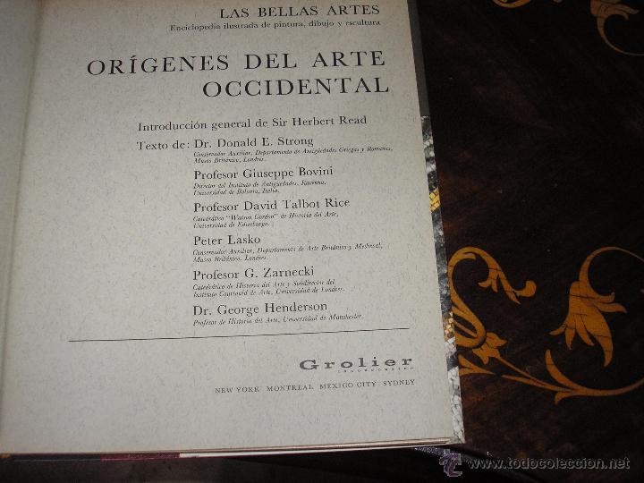 Enciclopedias antiguas: LAS BELLAS ARTES - ENCICLOPEDIA ILUSTRADA DE PINTURA, DIBUJO Y ESCULTURA - 10 TOMOS - Foto 5 - 54060790