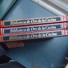 Enciclopedias antiguas: BIBLIOTECA DE ORO DE LA COCINA 3 EJEMPLARES NUMEROS 3 , 11 Y 12 BUEN ESTADO TAPAS EN ORO. Lote 54829157