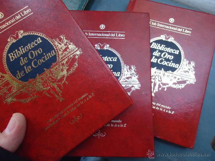 Enciclopedias antiguas: BIBLIOTECA DE ORO DE LA COCINA 3 EJEMPLARES NUMEROS 3 , 11 Y 12 BUEN ESTADO TAPAS EN ORO - Foto 2 - 54829157