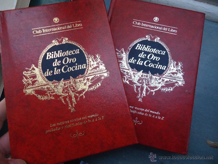 Enciclopedias antiguas: BIBLIOTECA DE ORO DE LA COCINA 3 EJEMPLARES NUMEROS 3 , 11 Y 12 BUEN ESTADO TAPAS EN ORO - Foto 3 - 54829157