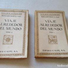 Enciclopedias antiguas: L. A. DE BOUGAINVILLE, VIAJE ALREDEDOR DEL MUNDO, 2 TOMOS.- ESPASA-CALPE- MADRID, 1936-. Lote 62459212
