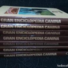 Enciclopedias antiguas: GRAN ENCICLOPEDIA CANINA 7 VOLUMENES TOMOS COMPLETA BRUGUERA 1982 A COLOR ANIMAL PERRO CAZA. Lote 64035167