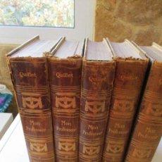 Enciclopedias antiguas: MON PROFESSEUR, GRANDE ENCYCLOPÉDIE AUTODIDACTIQUE MODERNE ILLUSTRÉE-5 TOMOS- LIBRAIRIE COMMERCIALE. Lote 64528563