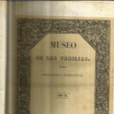 Enciclopedias antiguas: MUSEO DE LAS FAMILIAS. TOMO XII. ESTABLECIMIENTO MELLADO. MADRID. 184. Lote 67469645