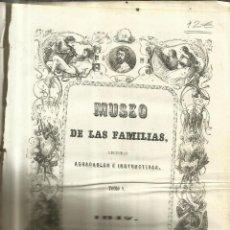 Enciclopedias antiguas: MUSEO DE LAS FAMILIAS. TOMO V. ESTABLECIMIENTO MELLADO. MADRID. 1847. Lote 67469849