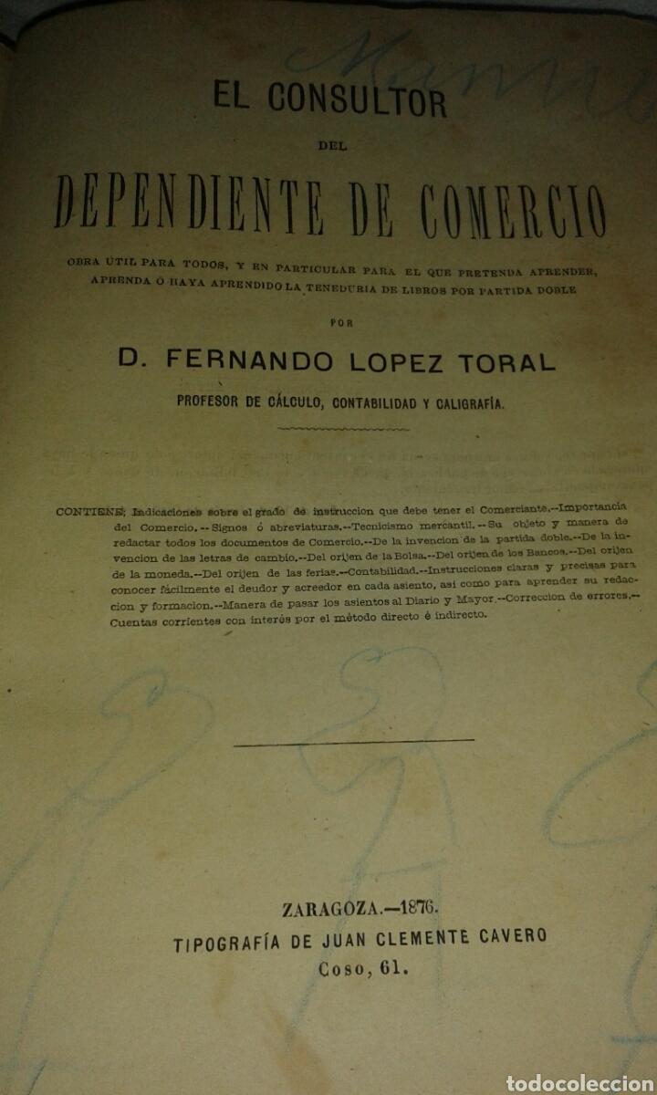 LIBRO EL CONSULTOR DEPENDIENTE DE COMERCIO (Libros Antiguos, Raros y Curiosos - Enciclopedias)