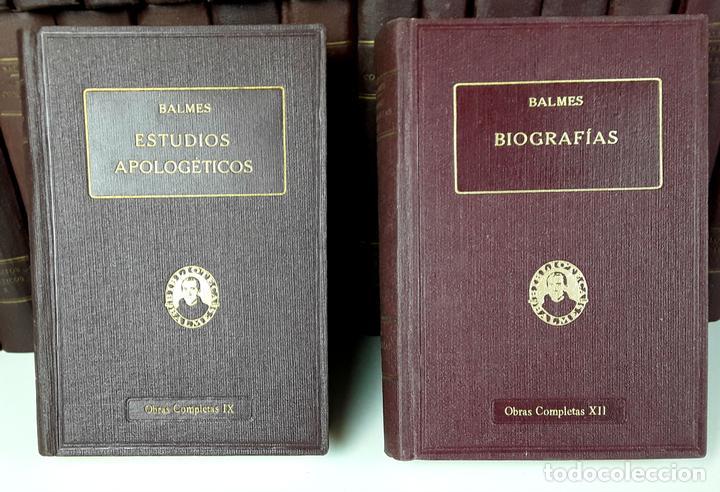 OBRAS COMPLETAS DE JAIME BALMES. 33 TOMOS(VER DESCRIPCIÓN). BIBLIOTECA BALMES.1925/1926. (Libros Antiguos, Raros y Curiosos - Enciclopedias)