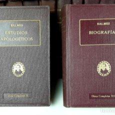 Enciclopedias antiguas: OBRAS COMPLETAS DE JAIME BALMES. 33 TOMOS(VER DESCRIPCIÓN). BIBLIOTECA BALMES.1925/1926.. Lote 78211569