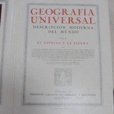 Enciclopedias antiguas: GEOGRAFIA UNIVERSAL. TOMO I. EL ESPACIO Y LA TIERRA. GALLACH, BARCELONA. 1931. Lote 79090113
