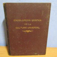 Enciclopedias antiguas: ENCICLOPEDIA GRAFICA DE LA CULTURA UNIVERSAL - TORTOSA BELTRAN ENCUADERNACIONES (SELLO) AÑO 1933. Lote 81691612