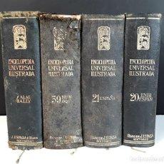 Enciclopedias antiguas: ENCICLOPEDIA UNIVERSAL ILUSTRADA. EUROPEO-AMERICANA. 4 VOL. VARIOS AUTORES. EDIT. ESPASA. 1923.. Lote 92880190