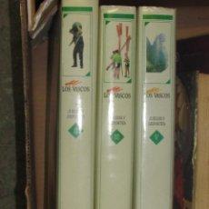 Enciclopedias antiguas: 3 TOMOS LOS VASCOS, JUEGOS Y DEPORTES #. Lote 95209203