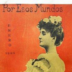 Enciclopedias antiguas: POR ESOS MUNDOS ENERO 1906. Lote 96902260