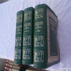 Enciclopedias antiguas: 3 TOMOS DICCIONARIO. Lote 97128487