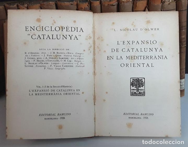 Enciclopedias antiguas: ENCICLOPEDIA CATALUNYA. 17 TOMOS. VARIOS AUTORES. EDITORIAL BARCINO.1926/1932. - Foto 4 - 97914063