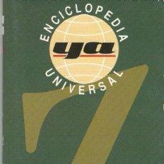 Enciclopedias antiguas: ENCICLOPEDIA UNIVERSAL YA.TOMO 20.. Lote 98897663