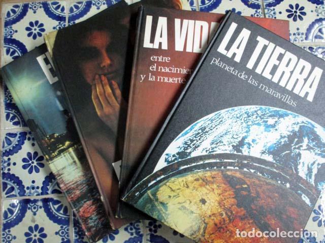 EL MUNDO / EL HOMBRE / LA VIDA / LA TIERRA. 4 VOLÚMENES, COMPLETA. (Libros Antiguos, Raros y Curiosos - Enciclopedias)