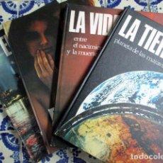 Enciclopedias antiguas: EL MUNDO / EL HOMBRE / LA VIDA / LA TIERRA. 4 VOLÚMENES, COMPLETA.. Lote 100211335