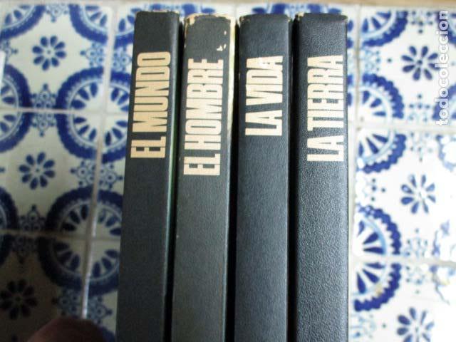 Enciclopedias antiguas: El Mundo / El Hombre / La Vida / La Tierra. 4 Volúmenes, Completa. - Foto 5 - 100211335
