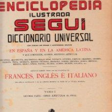 Enciclopedias antiguas: 2 TOMOS DE LA ENCICLOPEDIA ILUSTRADA SEGUI (AÑOS 20) TOMO 1 PRIMERA Y SEGUNDA PARTE-CANTIDAD DE ILUS. Lote 101464635