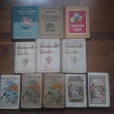 Enciclopedias antiguas: ENCICLOPEDIA ESCOLAR (TODAS LAS PUBLICADAS POR RUIZ ROMERO). Lote 6868577