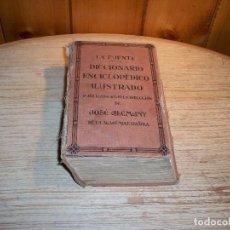 Enciclopedias antiguas: LA FUENTE . DICCIONARIO ENCICLOPÉDICO ILUSTRADO . JOSÉ ALEMANY . EDITORIAL RAMÓN SOPENA 1936. Lote 107899899