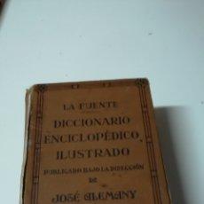 Enciclopedias antiguas: DICCIONARIO ENCICLOPEDICO ILUSTRADO 1937. Lote 109716231