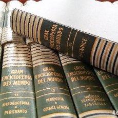 Enciclopedias antiguas: GRAN ENCICLOPEDIA DEL MUNDO DURVAN. AÑO 1961. 20 TOMOS + 1 APÉNDICE. Lote 112621607