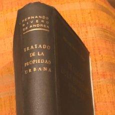 Enciclopedias antiguas: TRATADO DE LA PROPIEDAD URBANA(30€). Lote 115414487