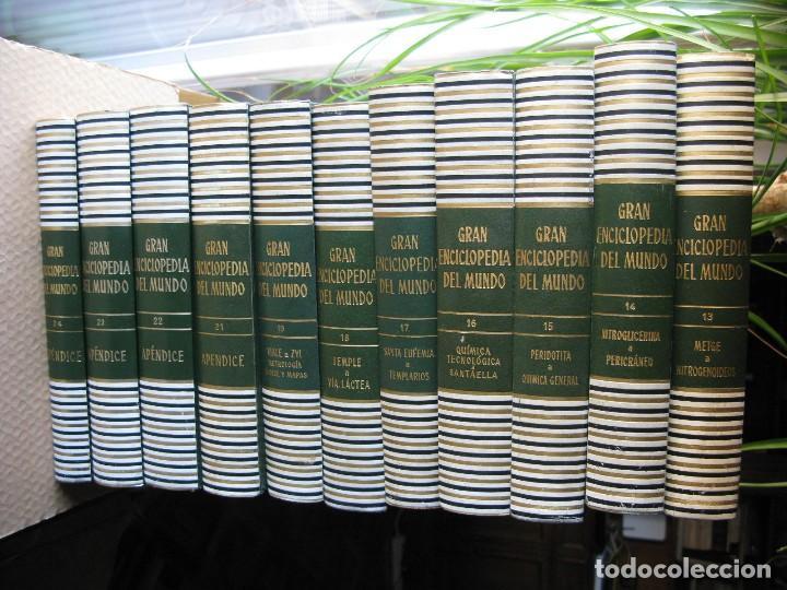 Enciclopedias antiguas: GRAN ENCICLOPEDIA DEL MUNDO. DURVAN. PRIMERA EDICIÓN 1966. 24 TOMOS (FALTA EL 20 - LÉXICO ESPAÑOL). - Foto 3 - 117419491