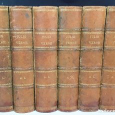 Enciclopedias antiguas: ENCICLOPEDIA DE JULIO VERNE. VARIAS EDITORIALES. ESPAÑA. 1875/1894.. Lote 119177631