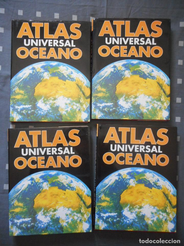 ATLAS UNIVERSAL OCÉANO. 4 TOMOS. 1995. POCO USO, COMO NUEVOS. BUEN ESTADO (Libros Antiguos, Raros y Curiosos - Enciclopedias)