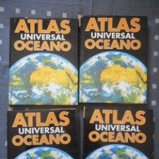 Enciclopedias antiguas: ATLAS UNIVERSAL OCÉANO. 4 TOMOS. 1995. POCO USO, COMO NUEVOS. BUEN ESTADO. Lote 121458307
